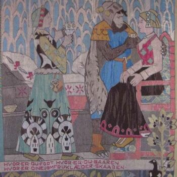 tapestry which is based on a design by Gerhard Munthe - Textiles