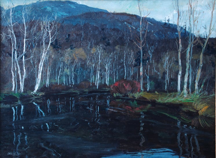 Birch Trees, Jonas Lie - Fine Arts