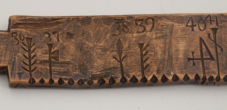 Calendar stick 36-41 - Decorative Woodcarving