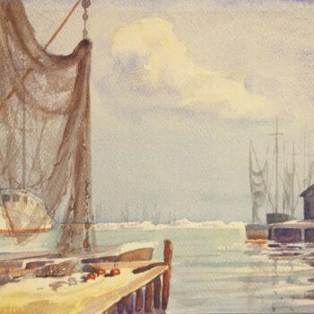 Coastal Scene, Leila Strand - Fine Arts