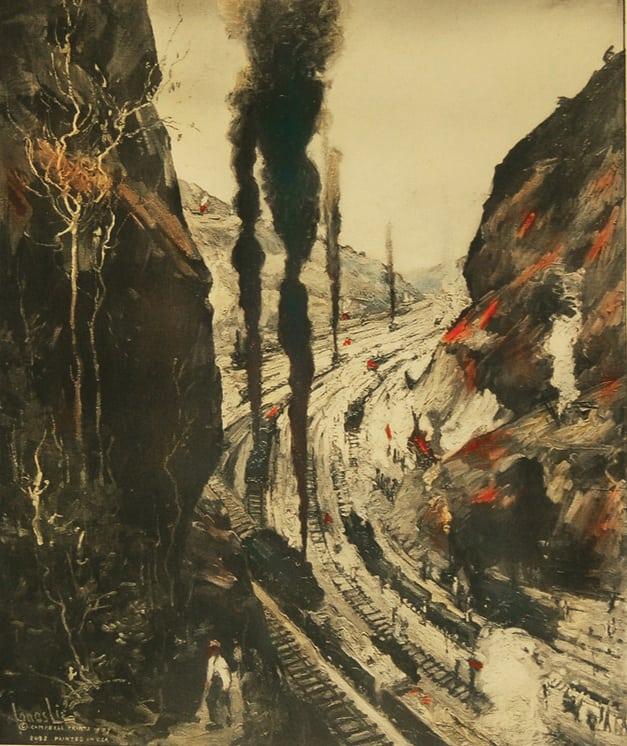Toil, Panama Canal 1913, Jonas Lie - Fine Arts