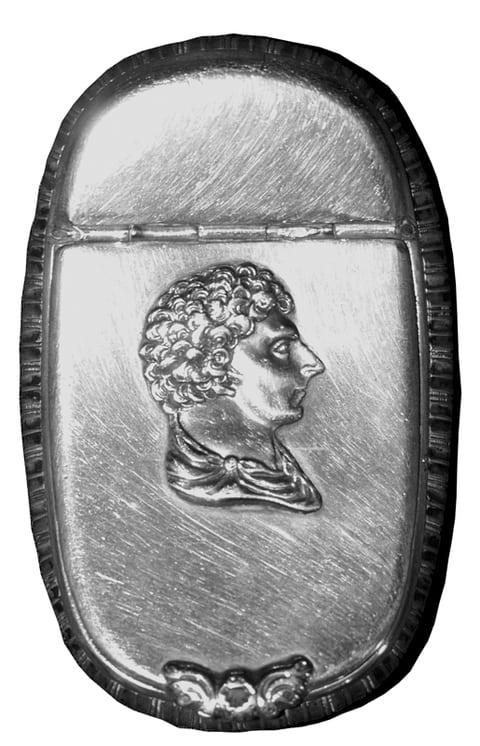 Box with a relief portrait of the prince - Norwegian Metalworking