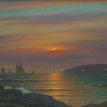 Setting Sun on the Ocean, Gulbrand Sether - Fine Arts