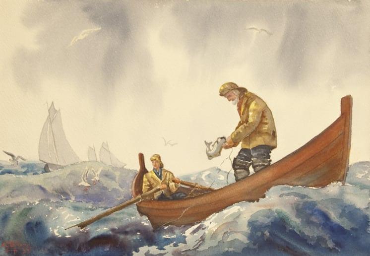 Fishermen, Carl Strand - Fine Arts