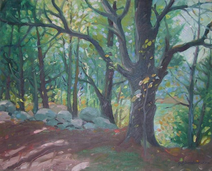 Woods, Knute O. Svendsen - Fine Arts