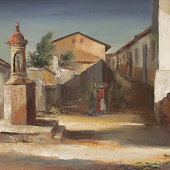 Spanish Village Plaza, J. Theodore Sohner - Fine Arts