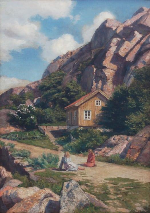 Spring Landscape, Marie Løkke - Fine Arts