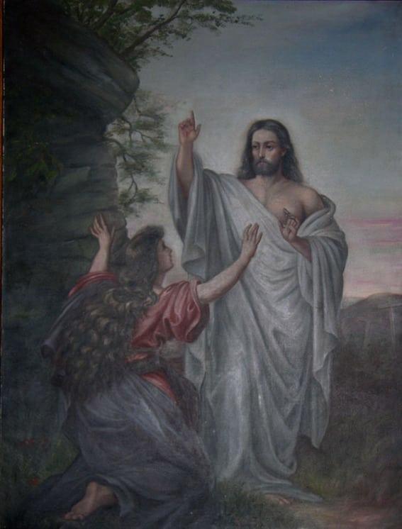Risen Jesus Appearing to Mary, Sara Kirkeberg Raugland - Fine Arts