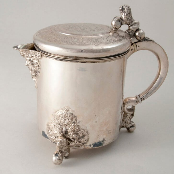Tankard with a design motif which migrated north from the Mediterranean area - Norwegian Metalworking