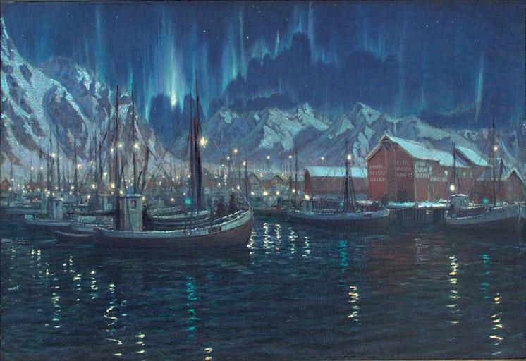 Northern Lights, Karl Ouren - Fine Arts
