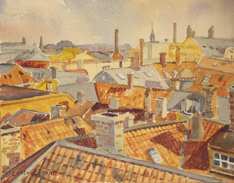 Rooftops, Leila Strand - Fine Arts