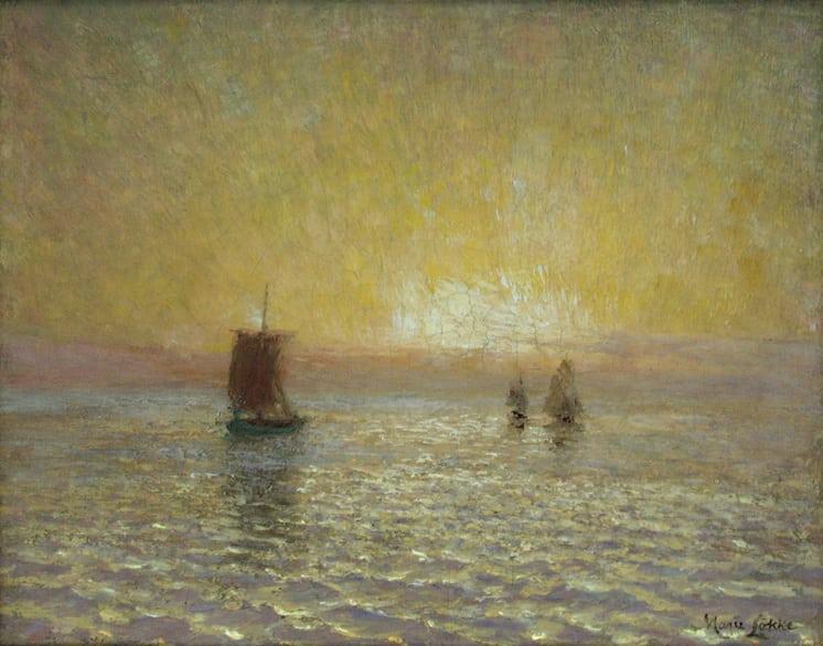 Dawn on Lake Michigan, Marie Løkke - Fine Arts