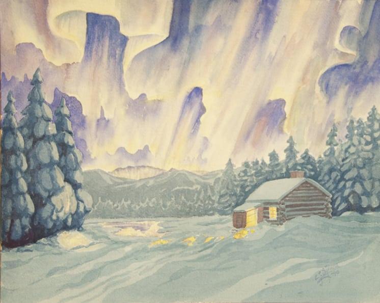 Aurora Borealis, Carl Strand - Fine Arts