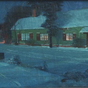 Winter Scene, Svend Svendsen - Fine Arts