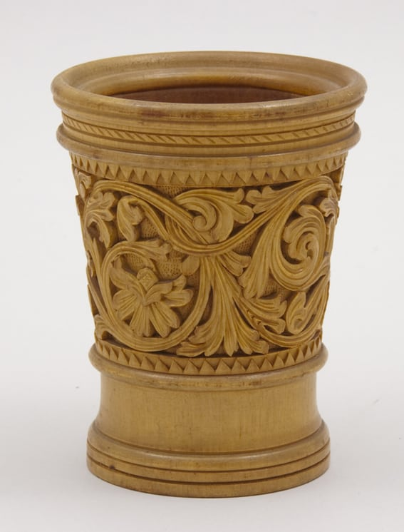 Lathe turned tumbler with fairly thick body - Decorative Woodcarving