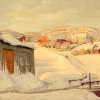 Winter in Trondhjem, Karl Ouren - Fine Arts