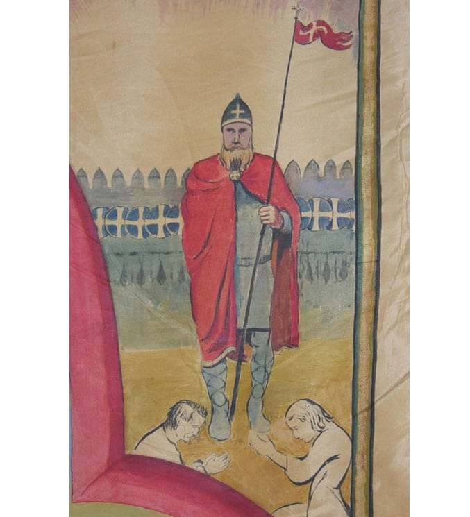 Hand-painted and embroidered parade banner, made by Tidemand Gjorud - Textiles