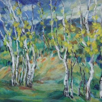 Birches in Norway, Anna Hong - Fine Arts