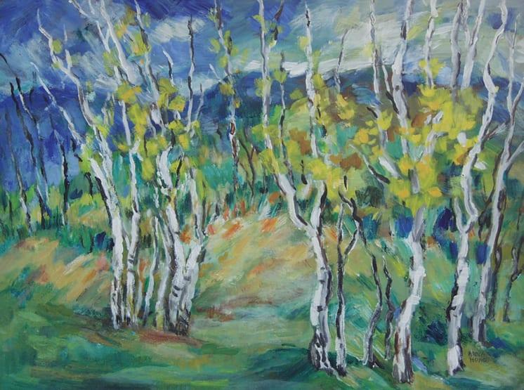 Birches in Norway, Anna Hong - Fine Arts