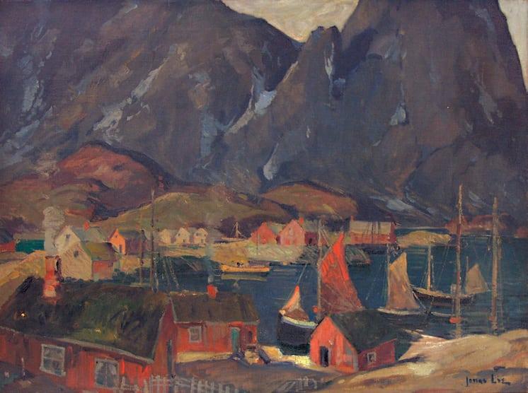 Svolvaer Fishing Harbor, Jonas Lie - Fine Arts