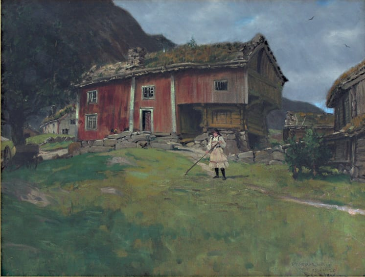 Farmstead in Setesdal, Ben Blessum - Fine Arts