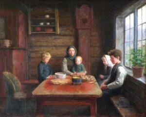 Grace Before the Meal, Herbjørn Gausta - Fine Arts