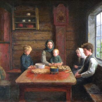 Grace Before the Meal, Herbjørn Gausta - Fine Arts