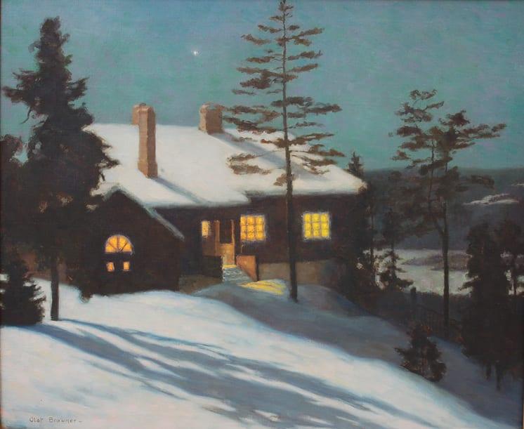 At Evening, Olaf Brauner - Fine Arts