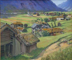 Farm Scene from Valle in Setesdal, Ben Blessum - Fine Arts