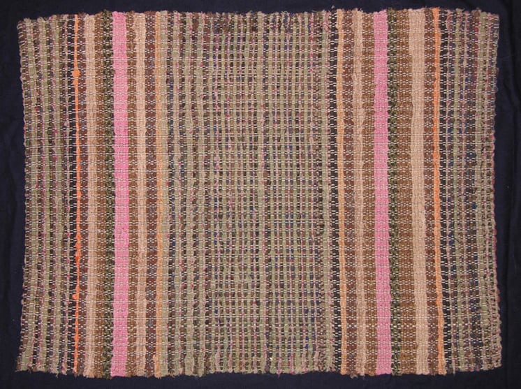 Rug made using a variety of rags - Textiles