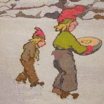 This tapestry, titled The Elves, was designed by the Norwegian artist Thorolf Holmboe