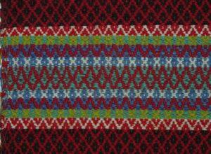 Coverlet woven in rosepath (rosebragd) technique in stripes - Textiles