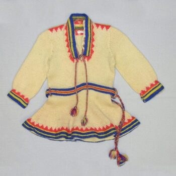 child's knit tunic or dress is done in the style of traditional Sami clothing - Textiles