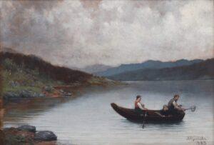Fishing in Telemark, Herbjørn Gausta - Fine Arts
