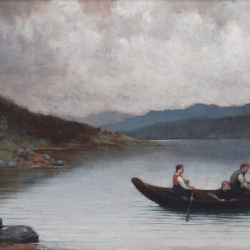 Fishing in Telemark, Herbjørn Gausta - Fine Arts