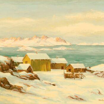 Fishermen's Home North Coast of Norway, Peer Gulbrandsen - Fine Arts