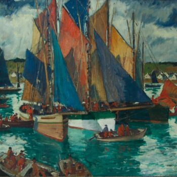 Anchored at Concarneau, Jonas Lie - Fine Arts