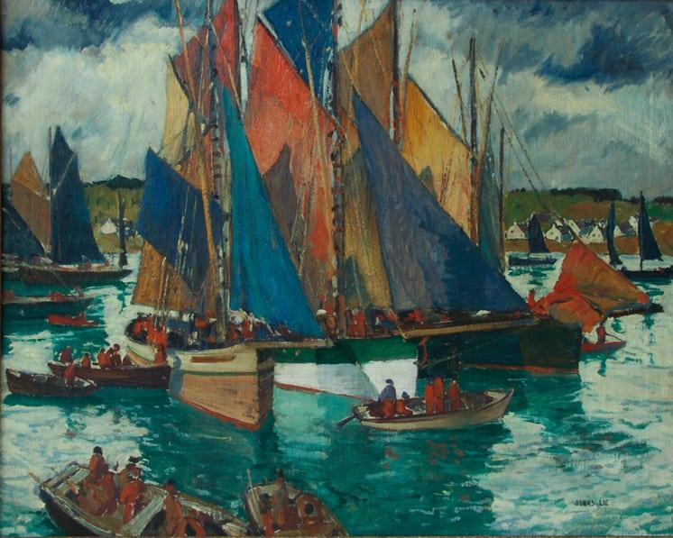 Anchored at Concarneau, Jonas Lie - Fine Arts