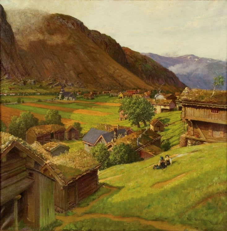 Sunday in Valle, Ben Blessum - Fine Arts