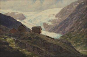 Mountain Farm in Norway, Emil Bjørn - Fine Arts