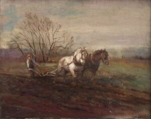 Autumn Plowing, Christian Abrahamsen - Fine Arts