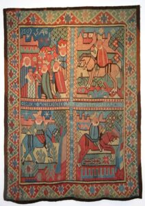 Tapestry design divided into four sections with Magi - Textiles