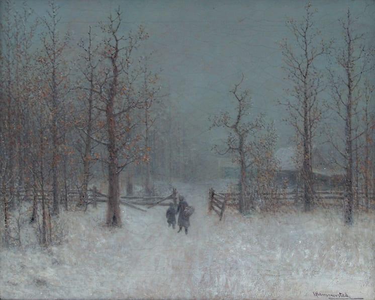 Winter Storm, John Olson Hammerstad - Fine Arts