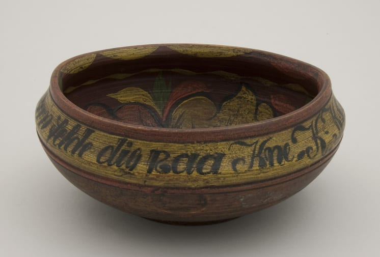 Outflaring ale bowl that turns in at top - Rosemaling & Decorative Painting