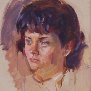 Girl with Blue Eyes, Christian Abrahamsen - Fine Arts