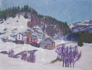 Ofdal Farm in Voss, Norway, Odd Fletre - FIne Arts