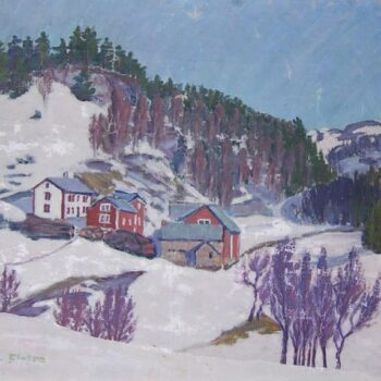 Ofdal Farm in Voss, Norway, Odd Fletre - FIne Arts
