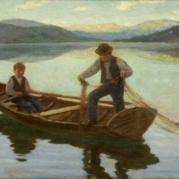 On the Mountain Lake, Norway, Herbjørn Gausta - Fine Arts