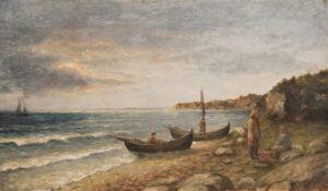 Fishermen on the Shore, Carl Böeckmann - Fine Arts