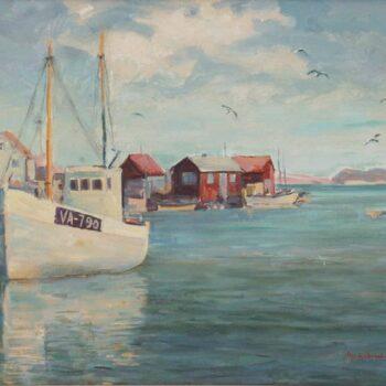 Scene from Ny Hellesund, Norway, Peer Gulbrandsen - Fine Arts